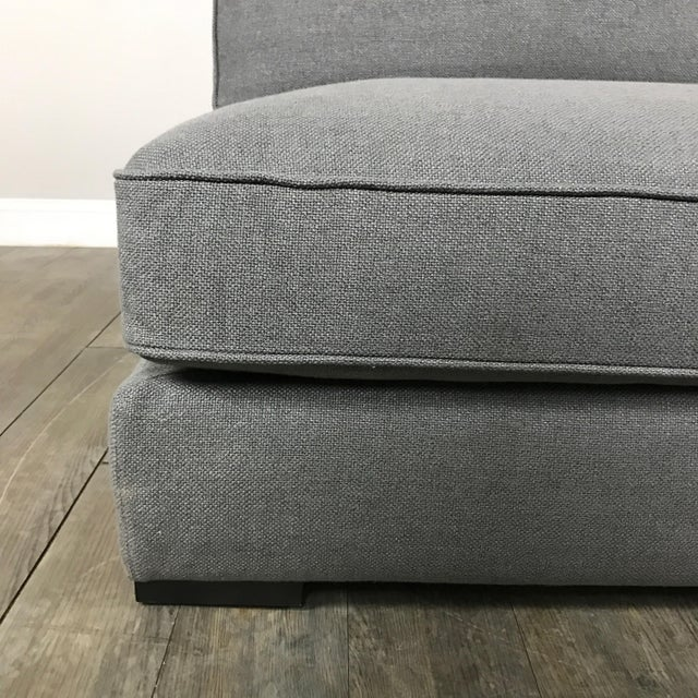 Gray Modern Armless Club Chair - Image 8 of 11