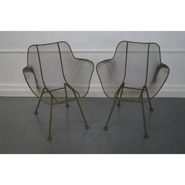 russell woodard sculptura wire chair set of 4 chairish