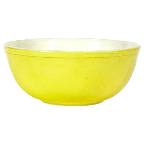 1960s Large Yellow Pyrex Salad Bowl - Image 1 of 3