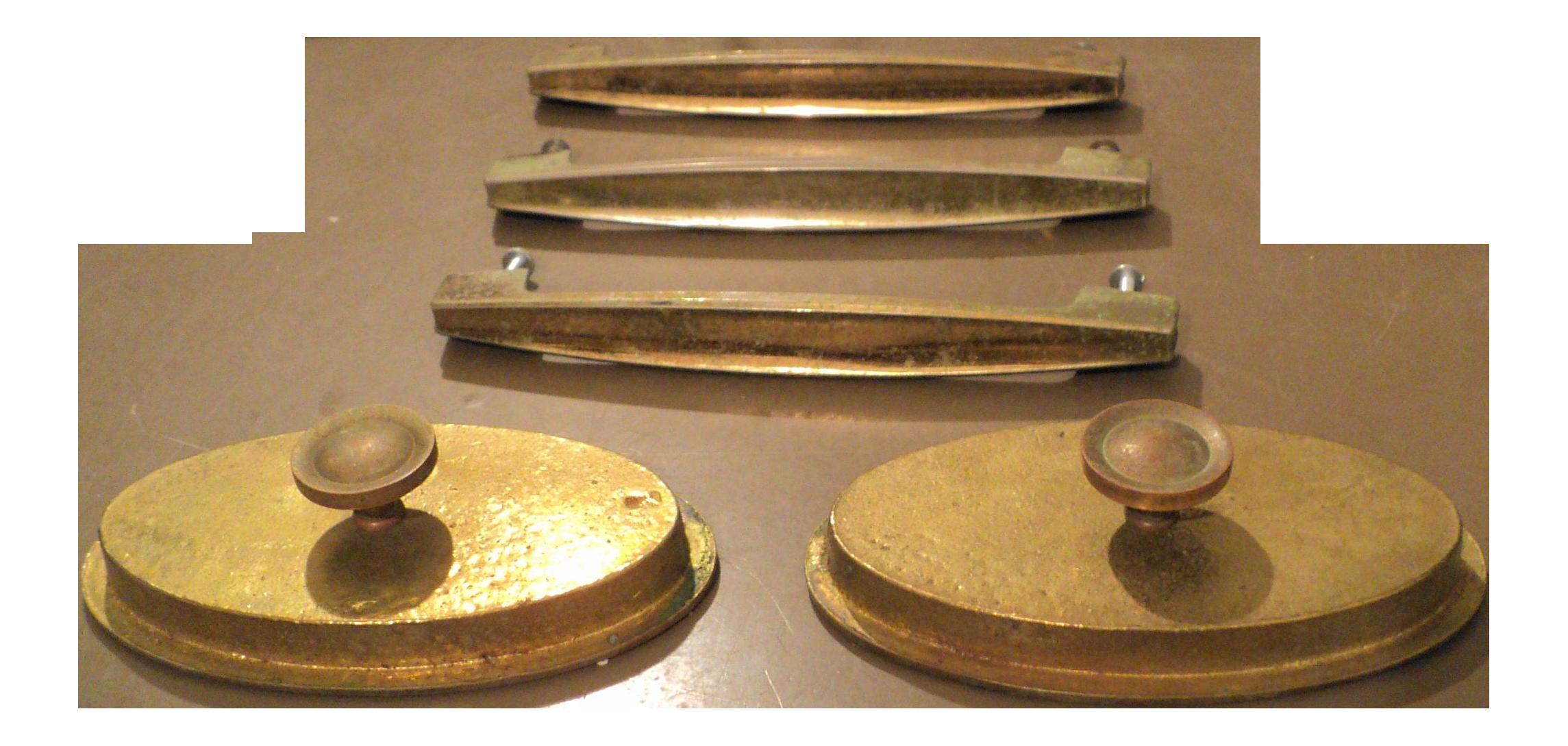 Image of: Mid Century Modern Drawer Pulls Set Of 5 Chairish