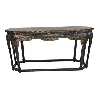 Chinoiserie Style Console Table- Bloomingdales For Sale