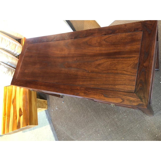 2010s Ming Style Walnut Writing Desk For Sale - Image 5 of 7