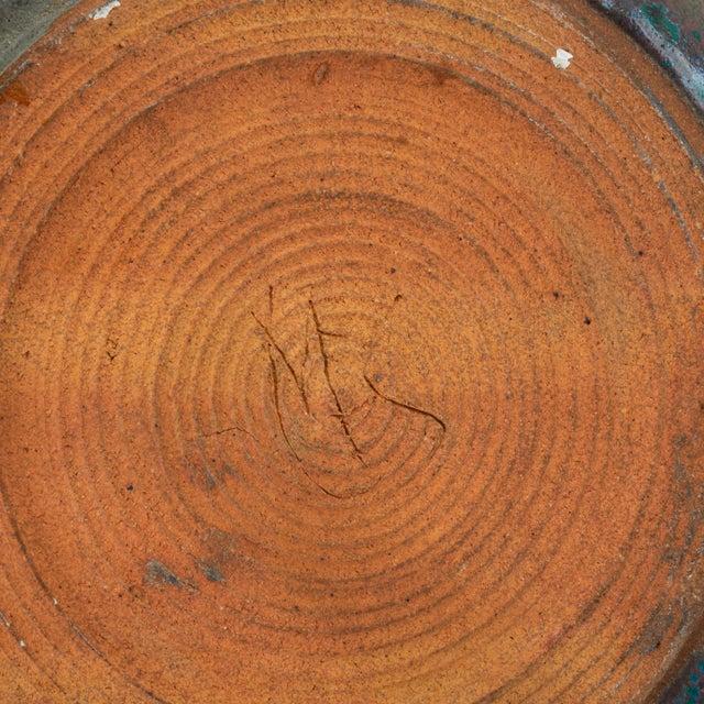 Blue Studio Pottery Serving Bowl For Sale - Image 11 of 12