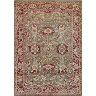 "Mansour Fine Handwoven Agra Rug - 6'5"" X 9' For Sale"