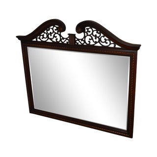 Stanley Stoneleigh Mahogany Chippendale Beveled Mirror For Sale