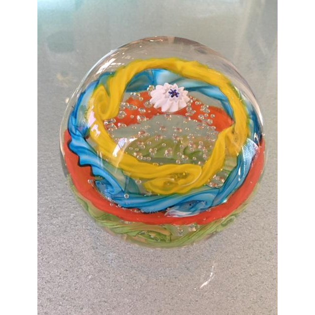 Brilliantly Colored Italian Art Glass Paperweight From 1970s For Sale In Los Angeles - Image 6 of 7