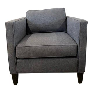 Heath Blue Weave Arm Chair For Sale