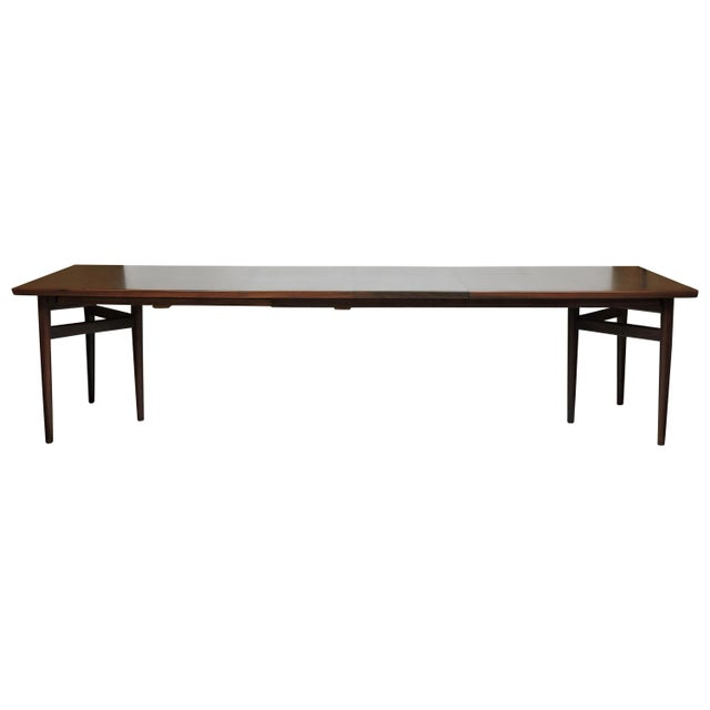 Arne Vodder Expandable Danish Modern Rosewood Dining Conference Table Model 201 For Sale - Image 13 of 13