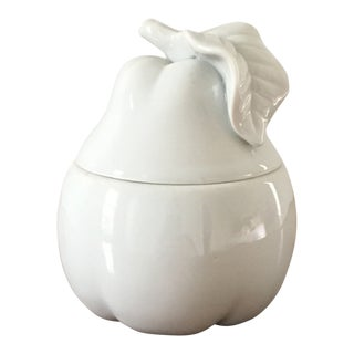 Ceramic Pear Lidded Container For Sale