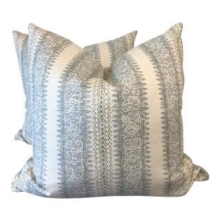 "Fabricut ""Frascati Cypress"" 22"" Pillows-A Pair For Sale"