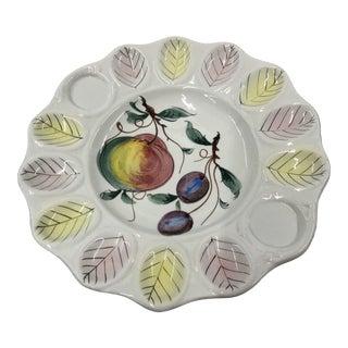 20th Century Italian Deviled Egg Plate For Sale