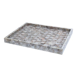 Geometric Inlay Tray For Sale