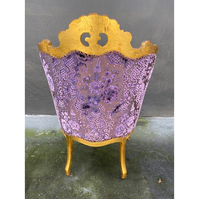 Late 19th Century Vintage Italian Giltwood Chair For Sale - Image 9 of 13