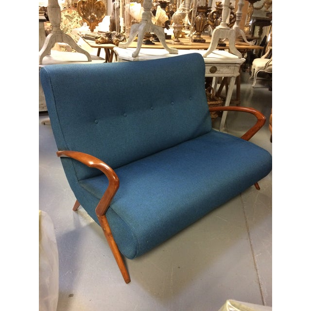 French Mid Century Modern Settee - Image 10 of 11