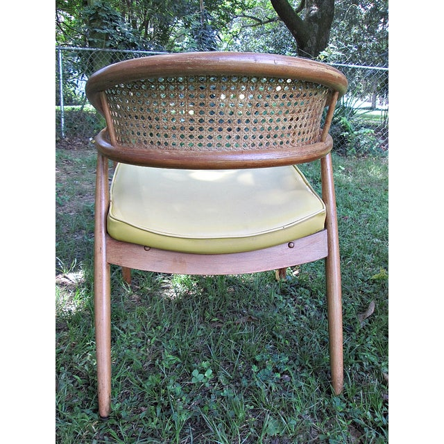 1960s James Mont Cane Back Chairs - Set of 4 - Image 9 of 10