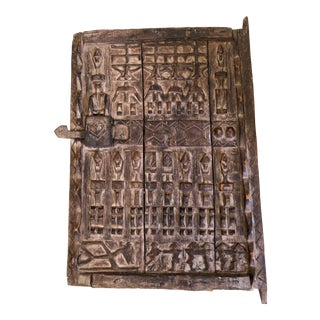 """Superb Dogon Door With Figures Mali African 23.75 """"H by 17"""" W For Sale"""
