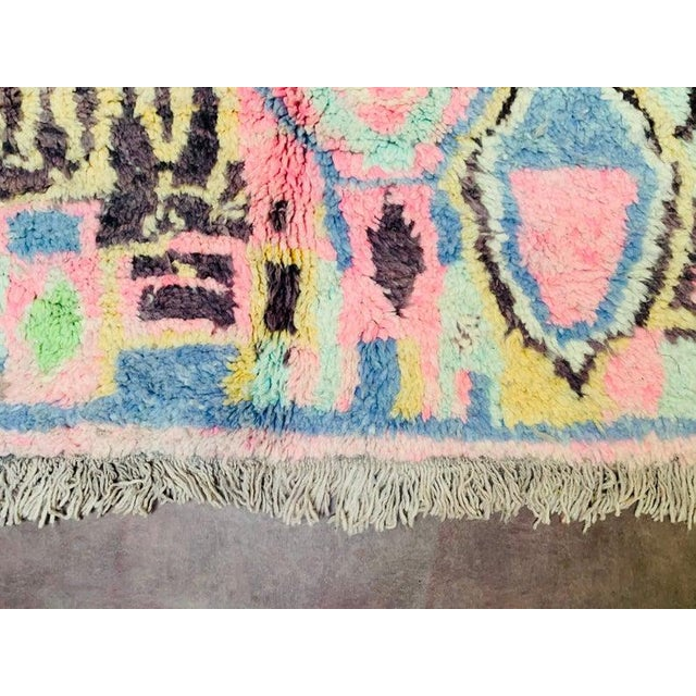 1970s 1970s Authentic Moroccan Rug- 5′3″ × 8′4″ For Sale - Image 5 of 10