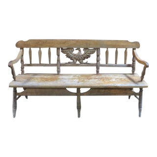 Mid 19th Century Vintage Federal Eagle Bench For Sale