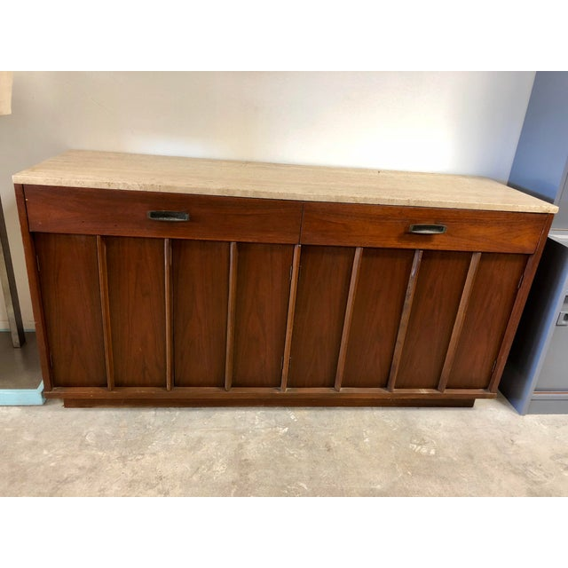 Mid-Century Modern American of Martinsville Italian Soapstone Credenza For Sale - Image 10 of 10