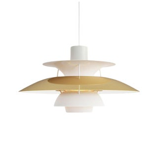Poul Henningsen Ph5 Mini Brass Pendant for Louis Poulsen For Sale
