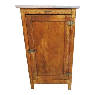 1920s Oak Ice Box Refrigerator For Sale