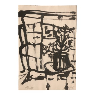 Original Vintage Robert Cooke Abstract Still Life Painting Signed 1970's For Sale