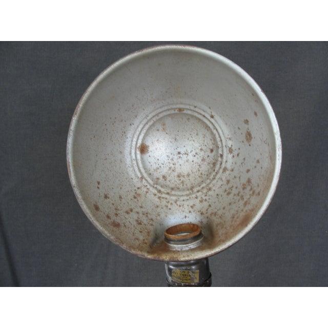 """Vintage Industrial Cast Iron """"Eagle"""" Desk Lamp For Sale - Image 5 of 7"""