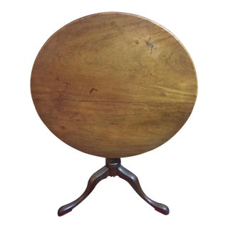 18th Century George II Mahogany Tilt Top Tea Table For Sale