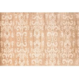 Stark Studio Traditional New Oriental Tibetan Silk Rug - 6′ × 8′10″ For Sale