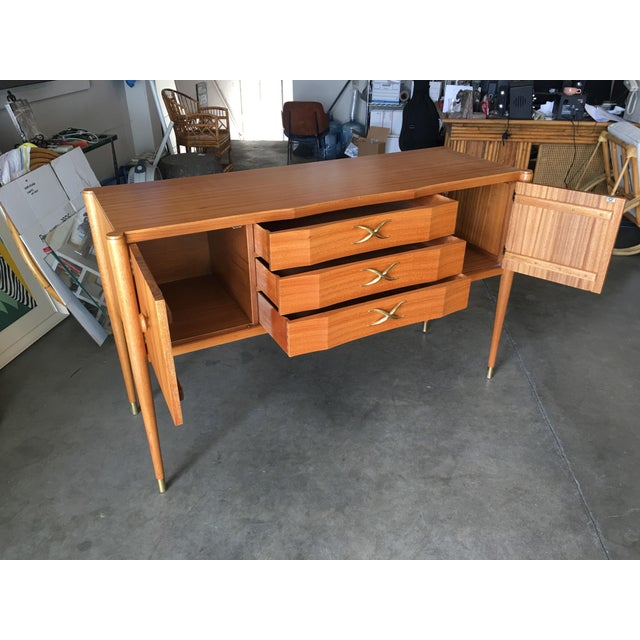 1950s High Style Mid Century Mahogany Sideboard by Paul Frankl For Sale - Image 5 of 9