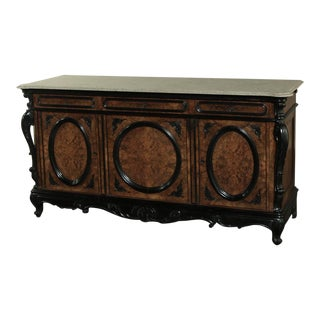 19th Century Biedermeier Marble Top Buffet For Sale