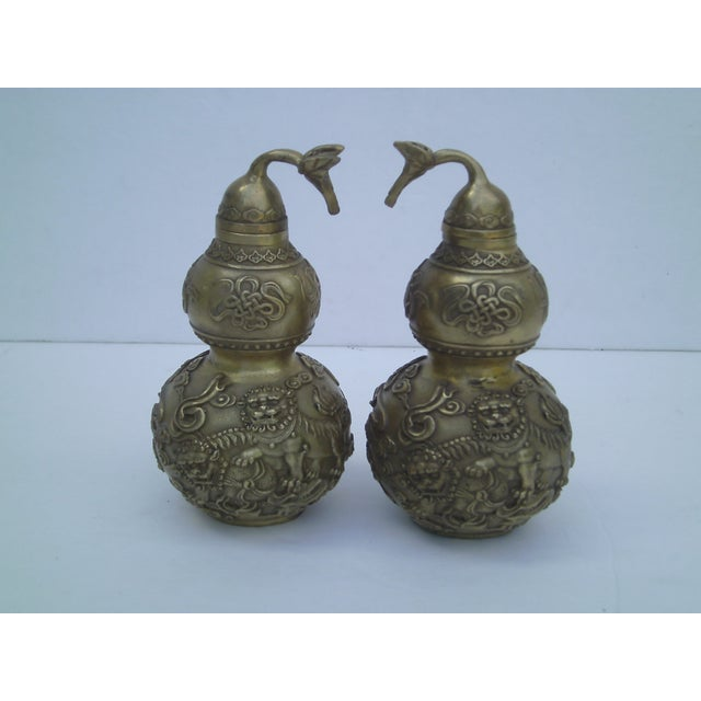 Bronze Covered Jars - A Pair - Image 2 of 10