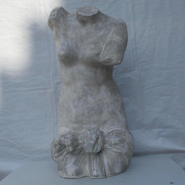Antique Plaster Cast of Greek Goddess Torso For Sale - Image 11 of 11