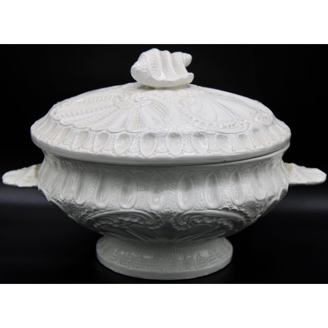 Large Italian Creamware Lidded Tureen With Ladle For Sale - Image 13 of 13