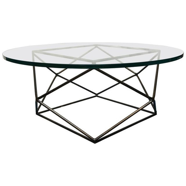 Contemporary Vintage Milo Baughman for Thayer Coggin Glass Top Coffee Table For Sale - Image 3 of 3