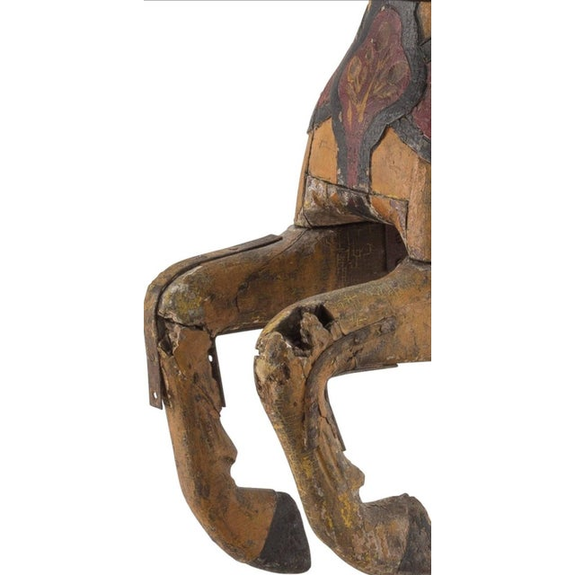 19th Century Charles Dare American Hand Painted & Carved Carousel Horse Figure For Sale - Image 9 of 11