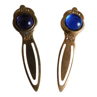 Vintage Royal Jewel Tone Bookmarks - a Pair For Sale