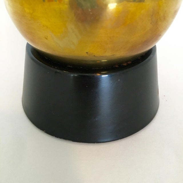 Mid-Century Brass Ball Lamp - Image 4 of 5