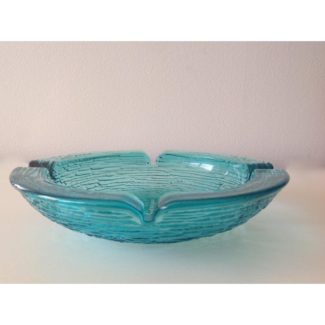 Anchor Hocking Anchor Hocking Vintage Teal Ashtray For Sale - Image 4 of 8