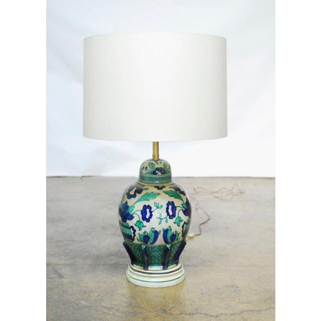 Marbro Italian Ceramic Faience Table Lamp - Image 8 of 9