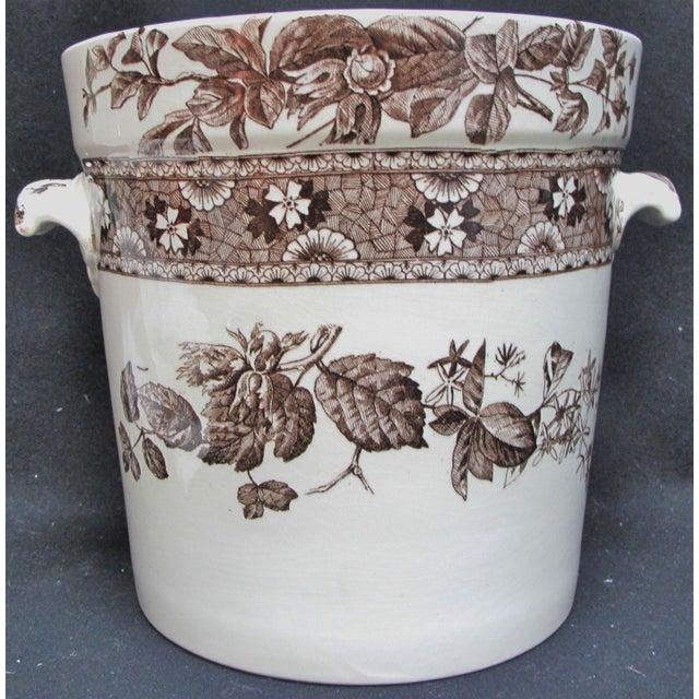 Traditional T. Furnival & Sons Brown Hazel 8 Quart Sop Pot Jar and Lid For Sale - Image 3 of 10