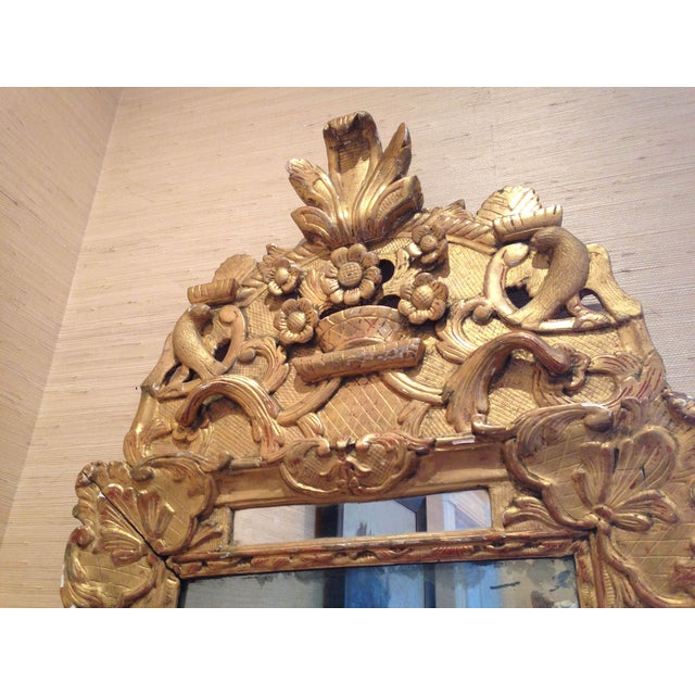 French Regency Gilt Wood Mirror - Image 3 of 3