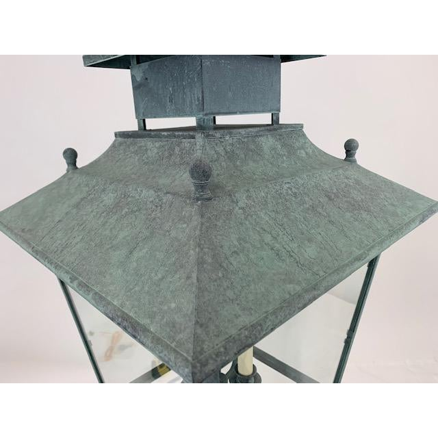 Modern Single 4 Light Lantern by Genie House For Sale - Image 3 of 9