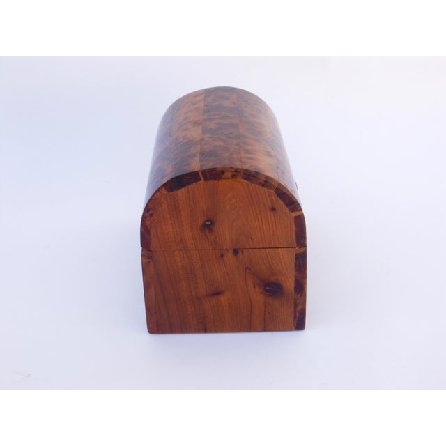 Moroccan Decorative Juniper Burl Wood Box For Sale - Image 5 of 7
