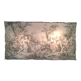 French Country Garden Scene Tapestry For Sale