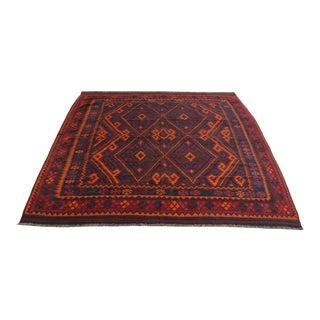 Vintage Afghan Square Kilim Rug For Sale