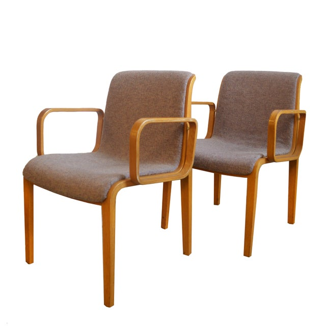 1980s 1980s Vintage Bill Stephens for Knoll Dining Chairs- A Pair For Sale - Image 5 of 5