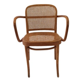 Mid-Century Modern Cane Dining Chair After Josef Frank Thonet