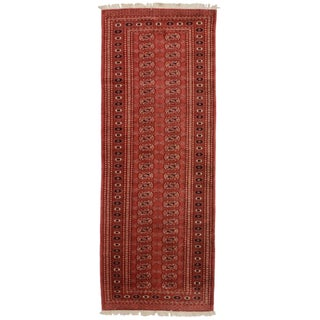 RugsinDallas Vintage Pakistani Bokhara Wool Runner - 3' X 8' For Sale
