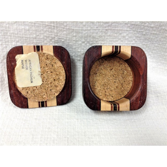 Mid 20th Century 20th Century African Padauk Wenge Maple Ring/Trinket Box For Sale - Image 5 of 6